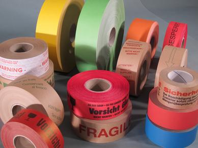 A wide selection: Taking centre stage at this year's appearance at the Interpack by Schümann is the extended range of gummed tapes which are on offer in a wide range of different versions – including ones featuring customer-specific printing.