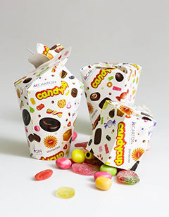 New cup packaging concept for confectionery